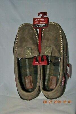 Men's House Shoes, by Levi Strauss  ~ Size 9 - 10 ~ Greige Color ~ Memory Foam