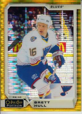 2018-19 O-Pee-Chee Platinum Seismic Gold #143 Brett Hull 24/50 Blues