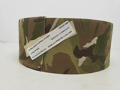 """4"""" inch Double Sided Crye Multicam Elastic Webbing MADE IN USA 1 yard"""