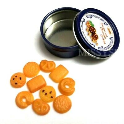 Coles Little Shop Mini Collectables - Mini Biscuit Tin with Tiny Biscuits