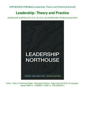 Leadership Northhouse-Theory and Practice 8th edition Digital V