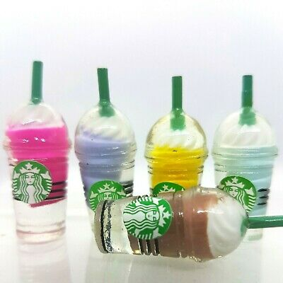 Coles Little Shop Mini Collectables - 2 Mini Starbucks Drinking Containers