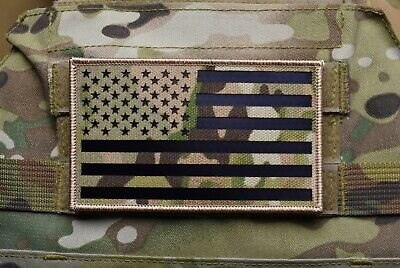 """Large Infrared Multicam IR US Flag Patch 5"""" x 3"""" Merrowed Border Special Forces"""
