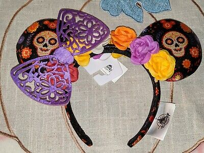 Disney Parks Minnie Mouse Ears Coco Dia de Los Muertos Headband Halloween 2019