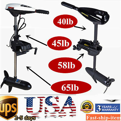Electric Trolling Motor 45/58/65 LBS Outboard Engine Saltwater Outboard motor US