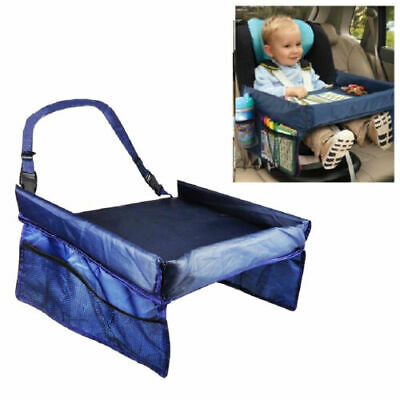 Car Seat Waterproof Baby Kids Safety Travel Tray Drawing Board Table Snack Toy
