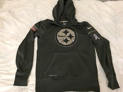 half off 35d47 623c0 PITTSBURGH STEELERS SALUTE to Service Therma Fit Hoodie 2018 ...