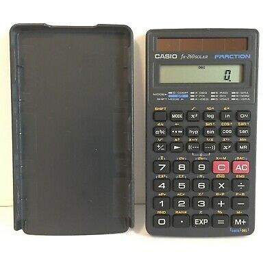Casio Fx-260 Solar Fraction Scientific Calculator with Hard Cover