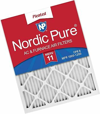 Nordic Pure 14x30x1 MERV 11 Pleated AC Furnace Air Filters 1 Pack,