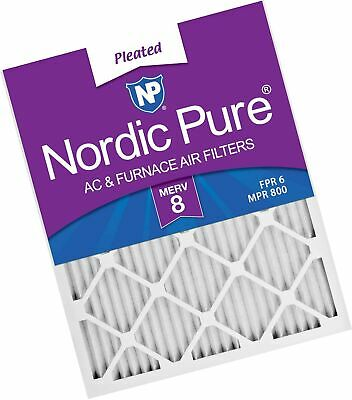 Nordic Pure 19_1/2x21x1 Exact MERV 8 Pleated AC Furnace Air Filters 1 Pack,