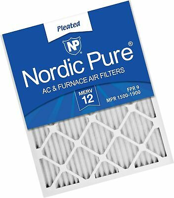 Nordic Pure 19_7/8x21_1/2x1 Exact MERV 12 Pleated AC Furnace Air Filters 1 Pa...