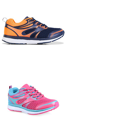Unisex Children Lightning Bolt Storm Navy Pink Runners Sneakers Casual Shoes