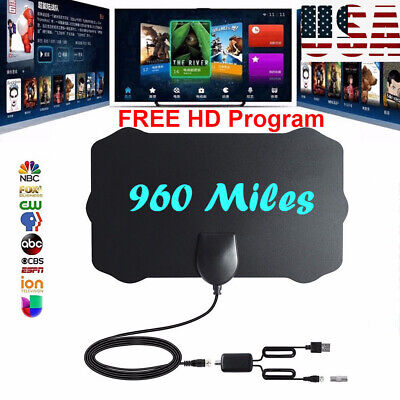 960 Mile Range Antenna TV Digital HDTV 1080p Skywire 4K HD Antena Digital-Indoor
