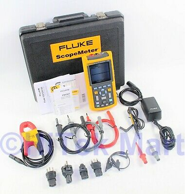 Fluke 125s Industrial ScopeMeter 40MHz Kit in Fluke Hard Case