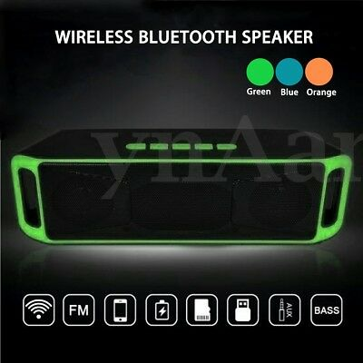 PORTATILE bluetooth 4.0 STEREO CASSA SPEAKER ALTOPARLANTE SUPER BASS  * ^