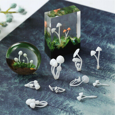 3pcs/set Mini Mushroom Model DIY Jewelry Making Materials Resin Craft Supplies
