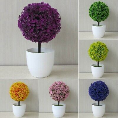 Decorative Artificial Outdoor Ball Plant Tree Pot Colour Small Medium Large Yulu