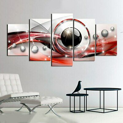 Modern Abstract 5 Panel Print Canvas Painting 5 Piece Vintage Wall Art