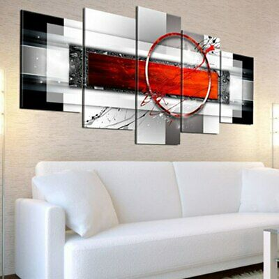 Modern Abstract 5 Panel Print Canvas Painting 5 Piece Vintage Wall Art 2