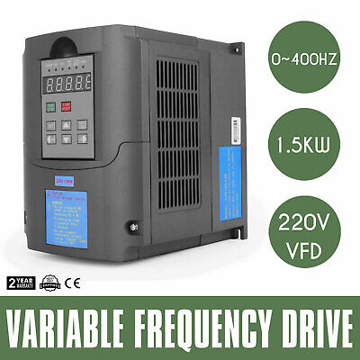 1.5KW 220V 2HP 7A Variable Frequency Drive Inverter VFD Speed Control CE
