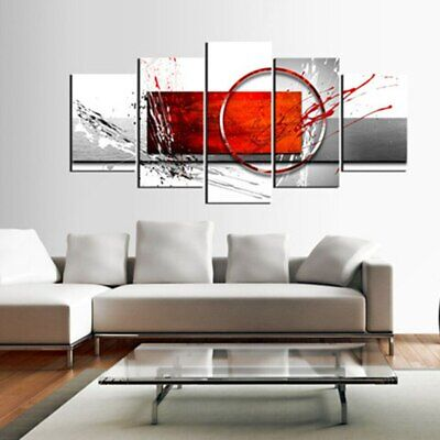 Modern Abstract 5 Panel Print Canvas Painting 5 Piece Vintage Wall Art 3