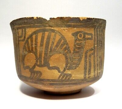 Rare Cut Decorated with - Valley Indus - Harappa 2000 BC - Painted Terracotta