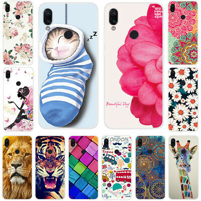 For Xiaomi Redmi Note 7 6 5 Pro Soft Rubber Matte TPU Pattern Phone Case Cover
