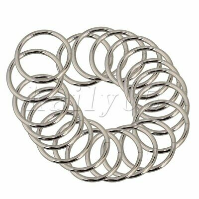 20x Round O Rings Webbing Belts Buckle Slide for Bags Purse Craft 38mm