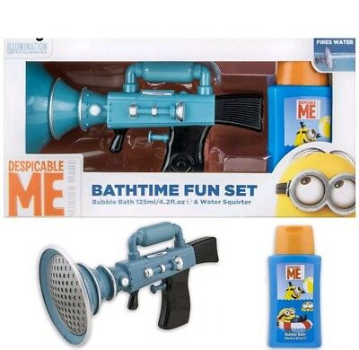 Minions Despicable Me Bathtime Fun Set toy bubble bath water squirter boy girl