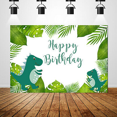 Dinosaur Photography Backdrops Children First Birthday Background Jungle Party