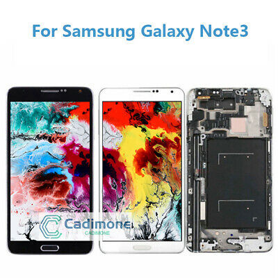 LCD Touch Screen Glass Digitizer Frame For Samsung Galaxy Note3 N9005 N900A/T AA