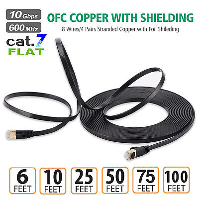 For Computer Router PC Mac Laptop PS4 CAT 7 Ethernet Cable LAN Internet Network