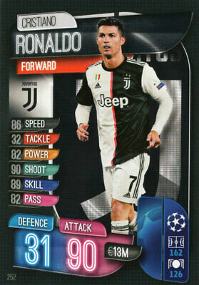 Match Attax 19/20 2019/20 Cristiano Ronaldo Base Card Juventus Champions League