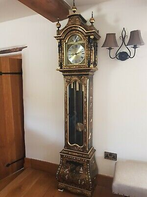 Antique Grandfather Clock Stunning,Japanese exterior,weight operated & beautiful