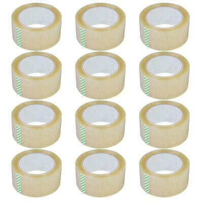 12 Rolls 2.7 Mil 180 FT 60 Yards Heavy Duty Carton Sealing Packing Shipping Tape