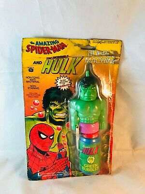 Incredible HULK Bubble Machine Marvel Avengers Rare Vintage Amazing Spider Man