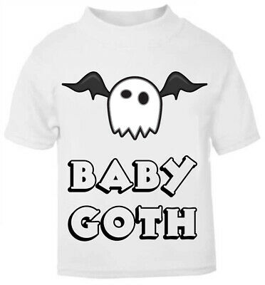 Baby Girls Boys Gothic T-Shirt Top Kids Goth Biker Darkside Clothing Age 0-6 New
