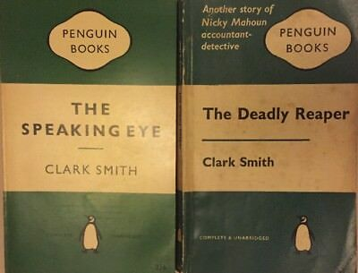 2 Clark Smith Penguin 1st Editions:Speaking Eye (1959-VGC); Deadly Reaper (1961)