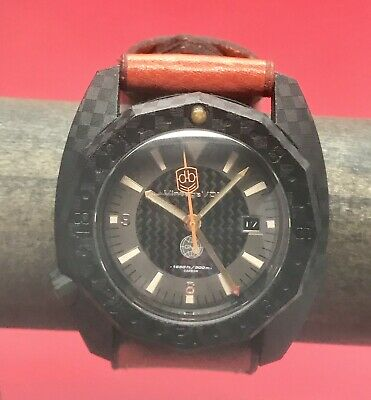 Vintage VDB Handmade Carbon Fiber GMT Swiss ETA 2893 Automatic 49mm German