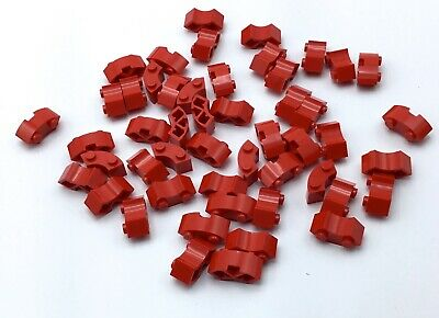 50 NEW LEGO CORAL 1x2 HALF BOW BRICKS 6261293 37352 round top curved rounded