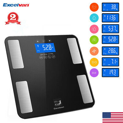 Bathroom Weight Scale Smart Body Fat Bones BMI Digital Electronic Fitness Touch