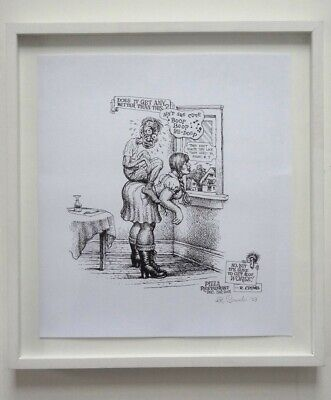 Robert Crumb signed rare lithograph – professionally framed