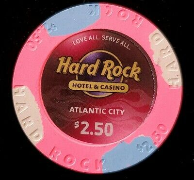 $2.50 Chip Hard Rock Hotel & Casino Atlantic City Chip Blackjack Poker Craps NJ