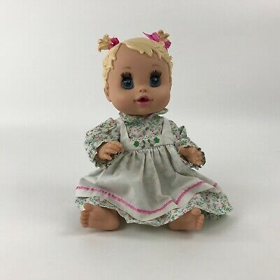 Baby Alive Doll 2006 Blonde Molded Hair Pigtails Blue Sleepy Eyes Drinks Wets