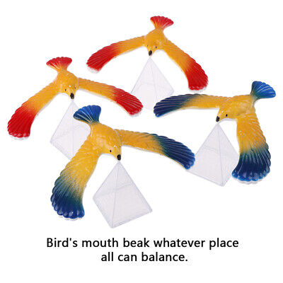 1Set Balancing bird + pyramid magic physics science enlightenment kid toy giftV!