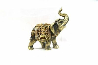 3.7″ Feng Shui Elegant Elephant Trunk Statue Lucky Wealth Figurine Decor