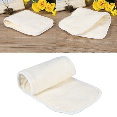 Adult Incontinence Cloth Nappy Diaper Inserts Boosters Liners Reusable Washable