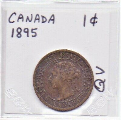 Canada 1 Cent Coin 1895 Queen Victoria As Pictured