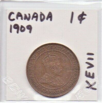 Canada 1 Cent Coin 1909 King Edward VII As Pictured