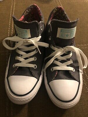 Details about Converse Chuck Taylor All Star Sneakers Gray Padded Collar & Tongue Womens 5